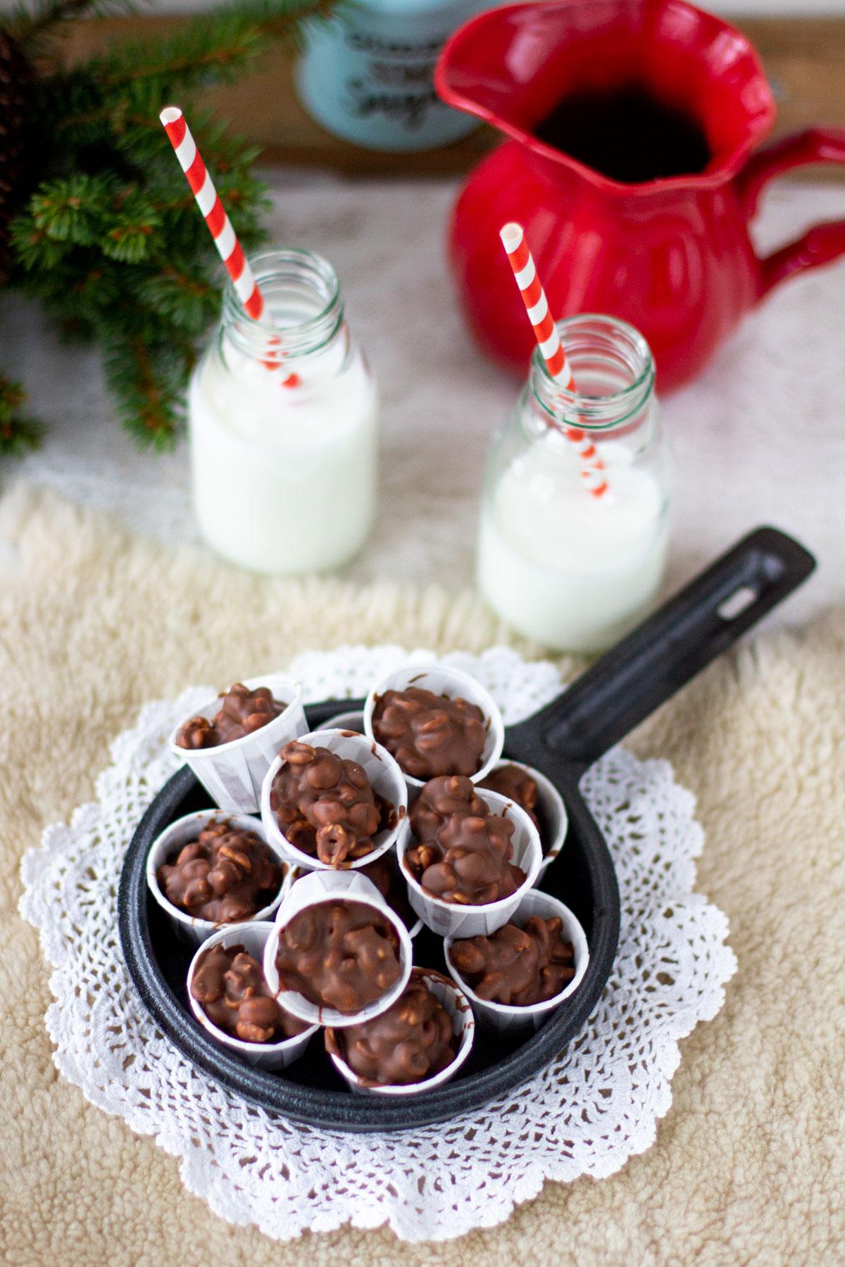 Suklaakarkit spettipopseilla